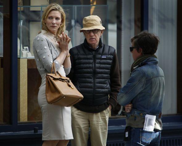 Cate Blanchett e Woody Allen na Union Square - 10/8/12 SFChonicle