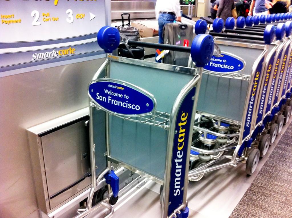 carrinho de malas em SFO