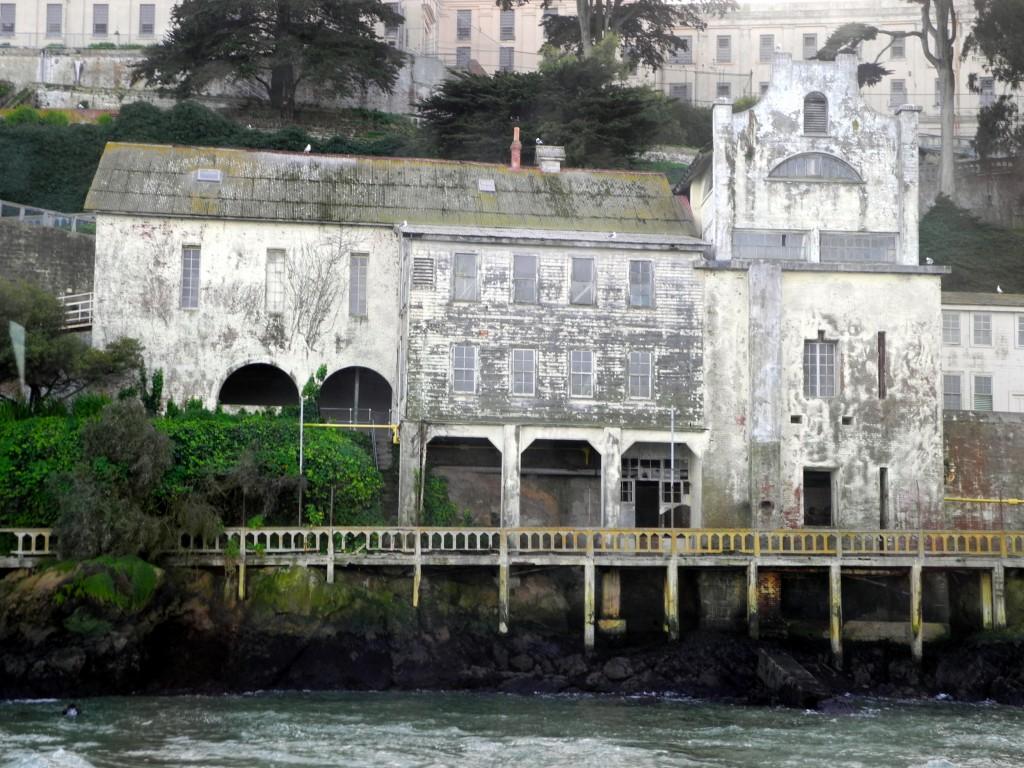 Guardhouse de 1857, a construção mais antiga da ilha de Alcatraz.