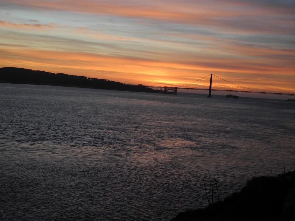 Vista da Golden Gate da Ilha de Alcatraz em São Francisco - Hotel California Blog
