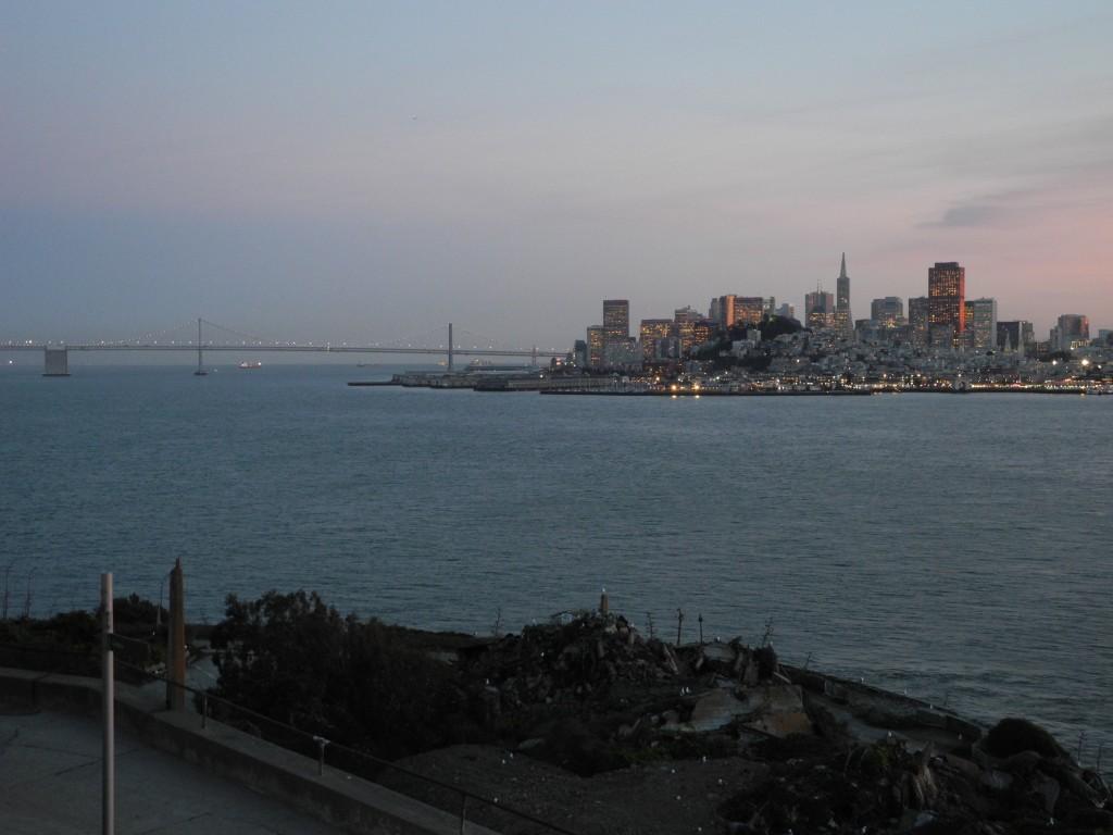 Vista de São Francisco na Ilha de Alcatraz
