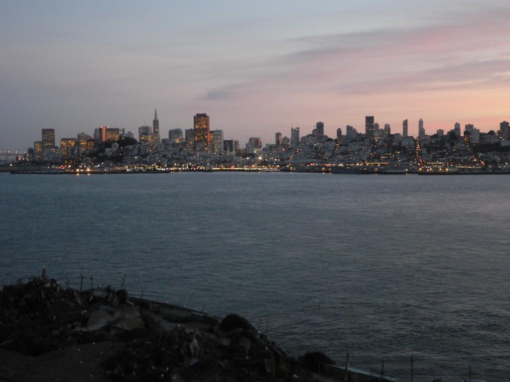 Final do dia em Alcatraz. Sempre vale a pena.