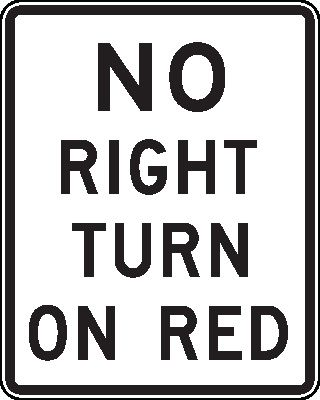 No Right Turn On Red - Dirigir nos EUA - Hotel California Blog