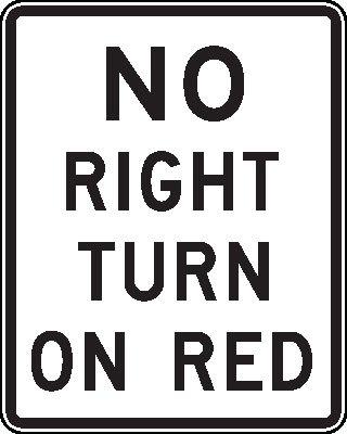 No Right Turn On Red - Dirigir nos EUA - Hotel California Blog