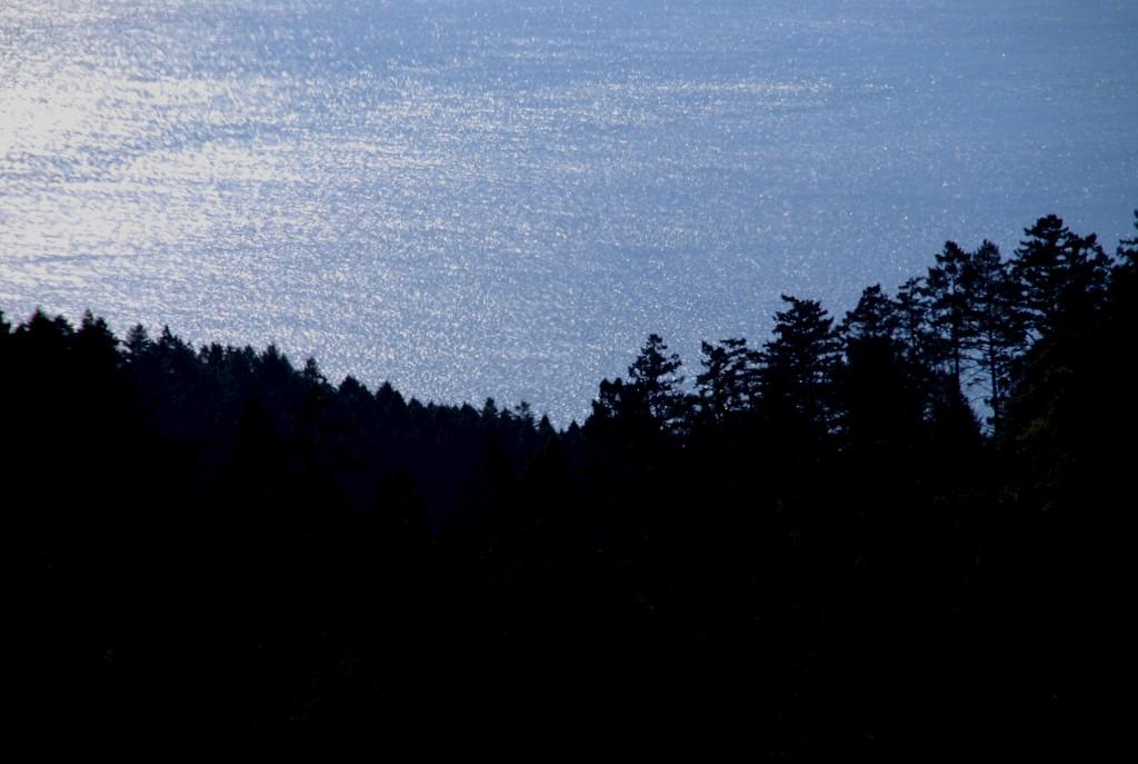 A subida já começa linda, com o mar do seu lado esquerdo.