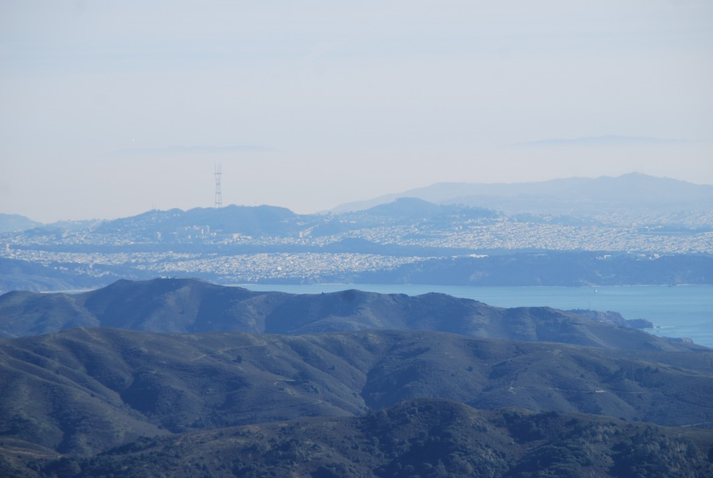 O Golden Gate Park lá longe.