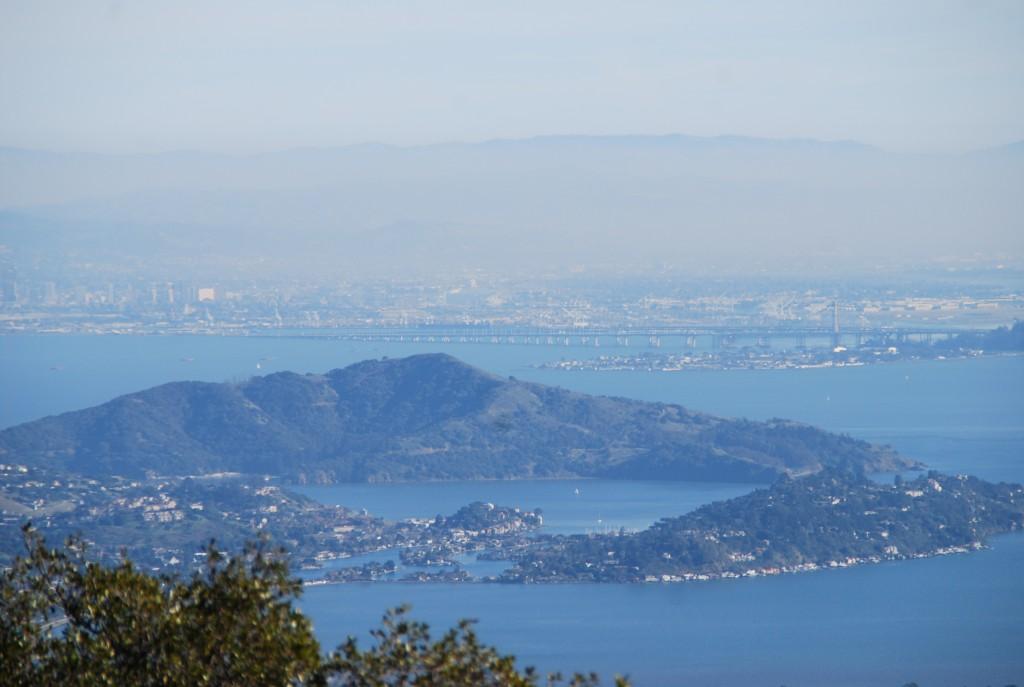 Adoro como Sausalito e Tiburon formam um coracão, daqui de cima.