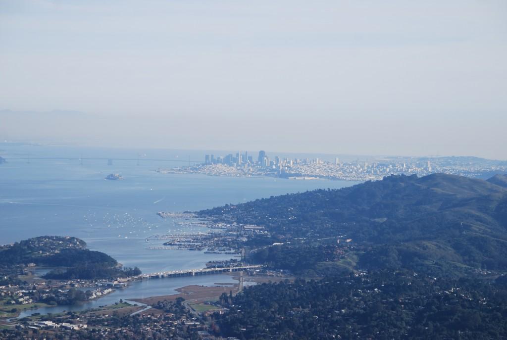 E o centro de São Francisco lá longe.
