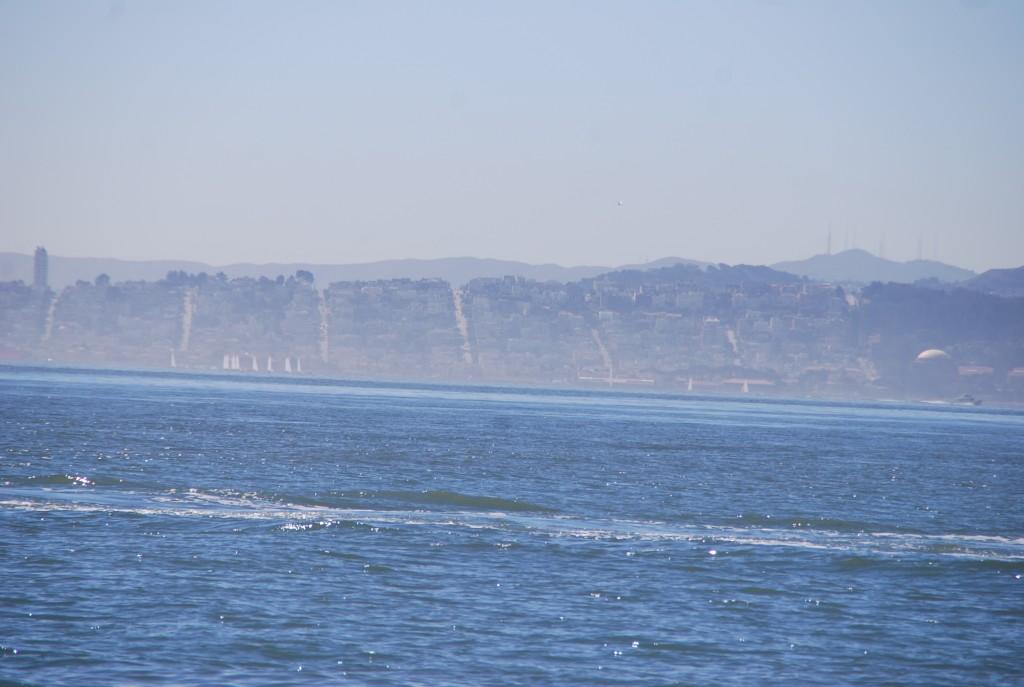 O traçado de São Francisco, visto do ferry.