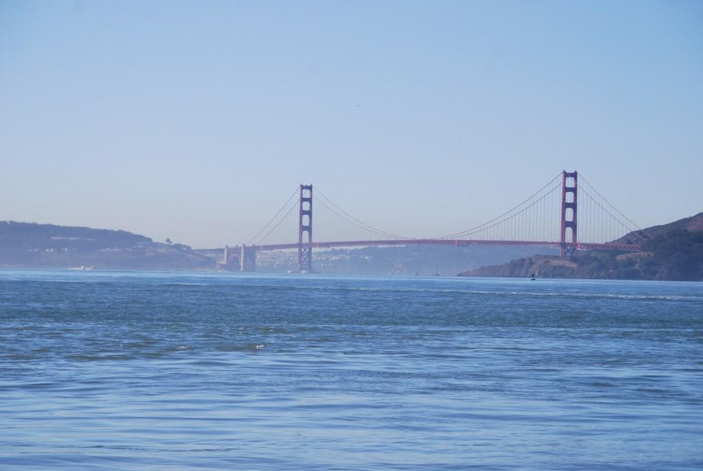 A Golden Gate, sempre linda, não importa o ângulo.