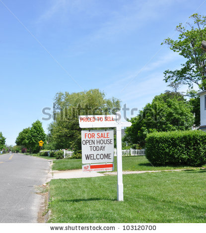 stock-photo-real-estate-for-sale-open-house-welcome-sign-ask-for-licensed-broker-103120700