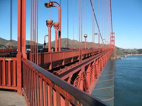 Proposta da rede de proteção na Golden Gate Bridge - foto: The bridge rail foundation