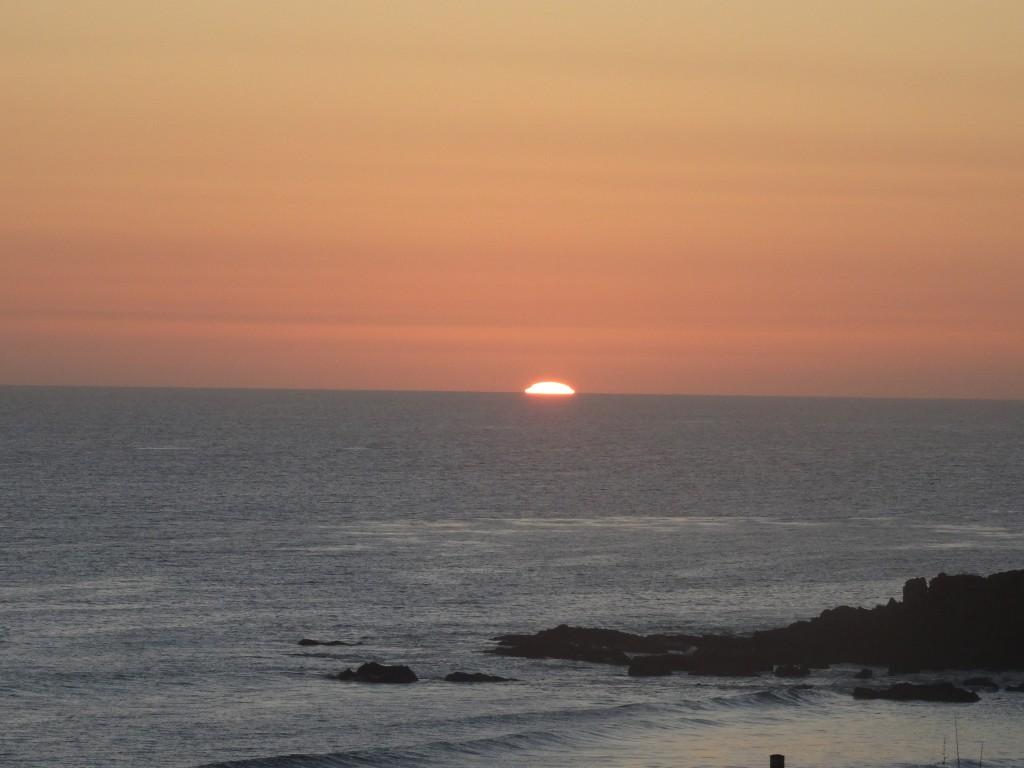 Por do sol em Malibu