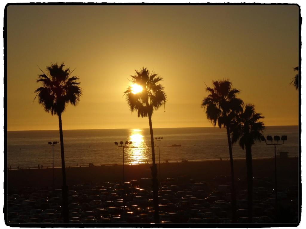 Por do sol em Santa Monica.