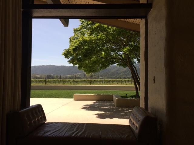 Um cantinho numa vinícola em Napa Valley.