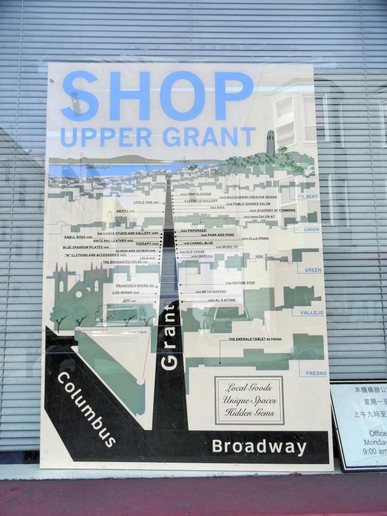 Esse é o pedaço legal da Grant , em North Beach.