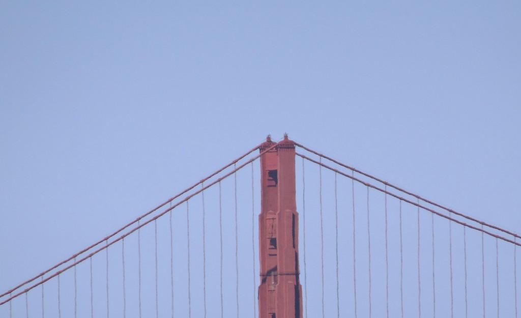 Vai ser difícil encontrar um céu azul assim, mas a ponte continua linda.