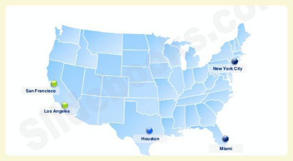 Dá pra entender? Quanto mais perto da Costa Oeste, menos cansativo será o voo.