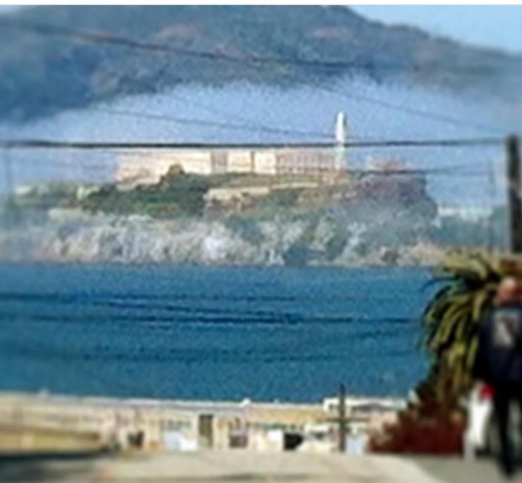 Ou Alcatraz lá no fundo, ainda com fog. As 2 fotos acima foram tiradas do mesmo lugar.