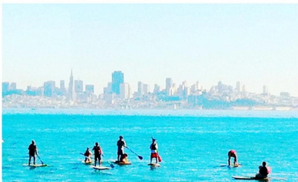 A água do mar não é dessa cor, mas a vista de São Francisco no fundo é sempre imponente