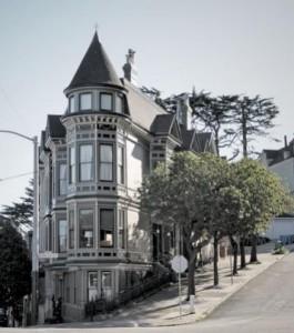 """1081 Haight Street, o único""""flatiron"""" residencial da cidade."""