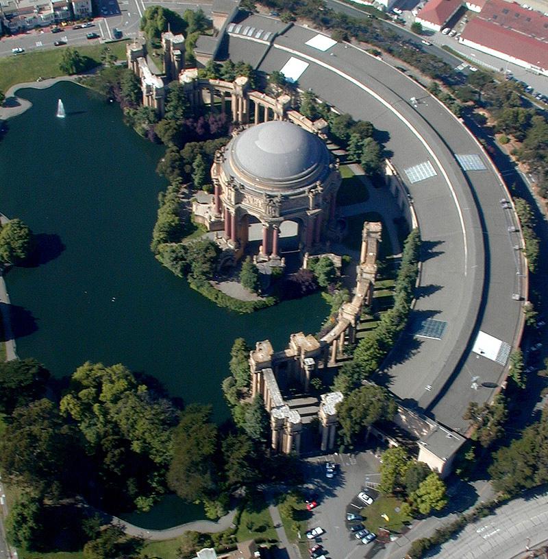 O Palace of Fine Arts hoje. Não é demais? Foto: staysf.com