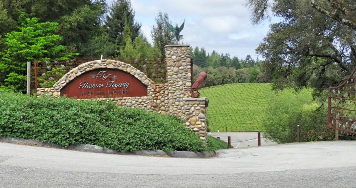 A entrada da vinícola