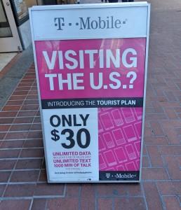 plano de celular para turistas nos Estados Unidos
