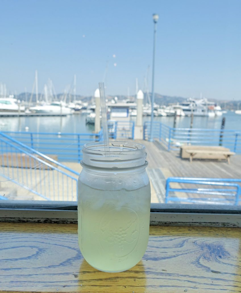 limonada no restaurante Fish em Sausalito