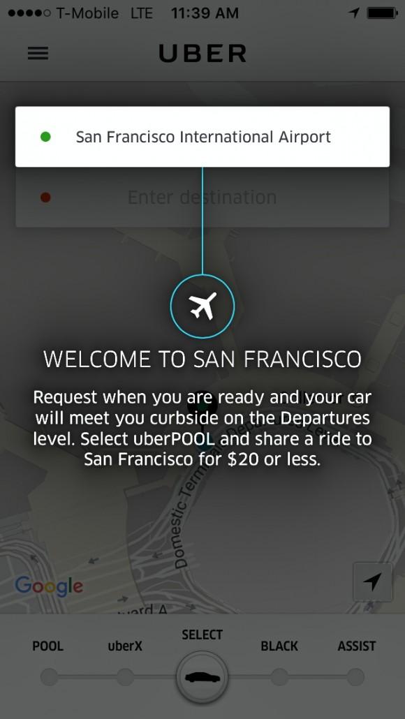 Bem vindo a San Francisco com o Uber!