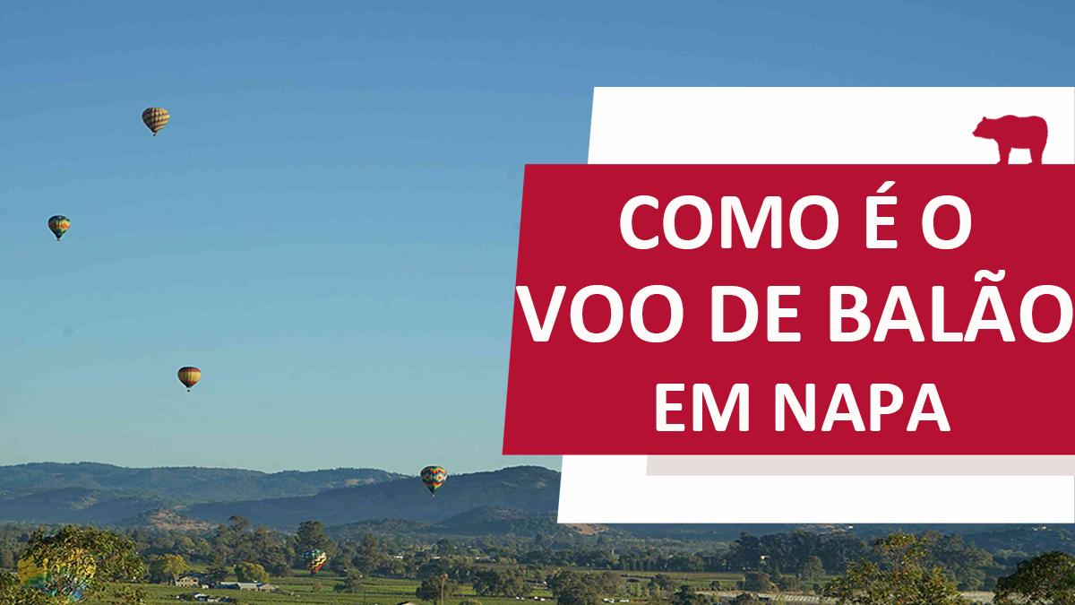 voo de balão em Napa