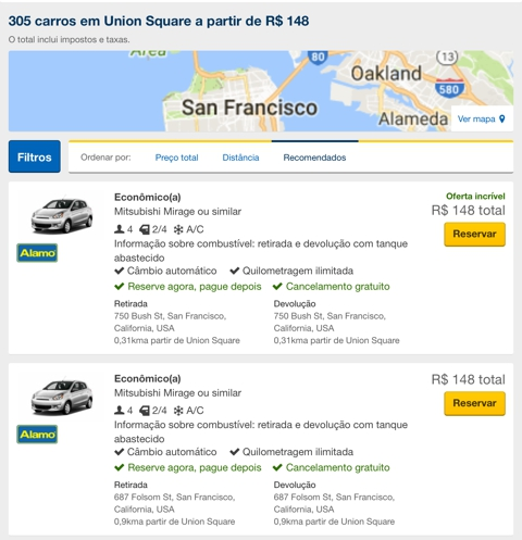 alugar carro nos EUA