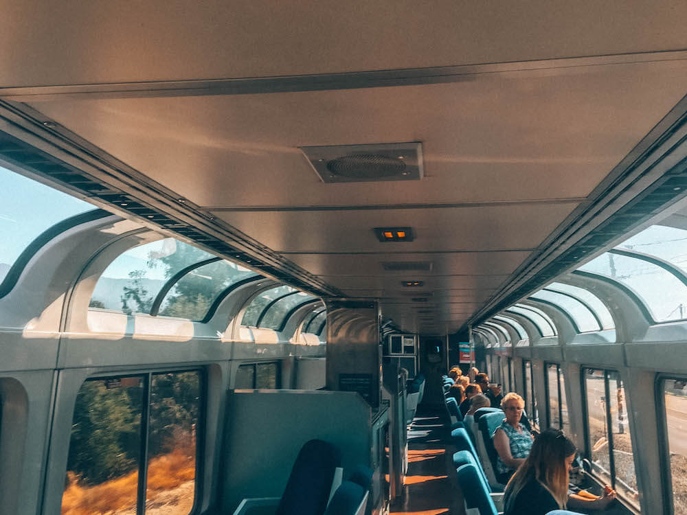 Sightseeing car coast starlight train