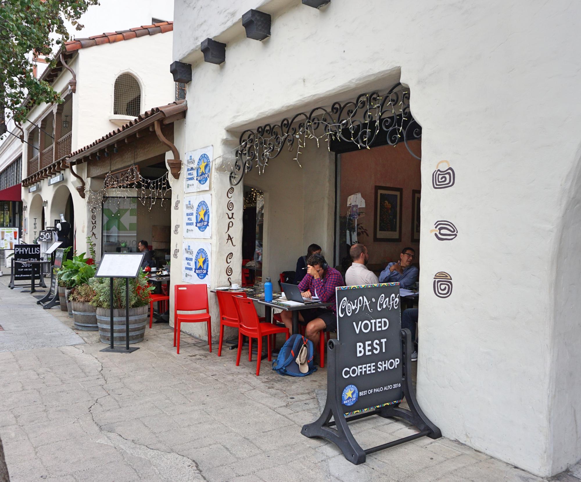 Coupa Cafe, o café tech em Palo Alto