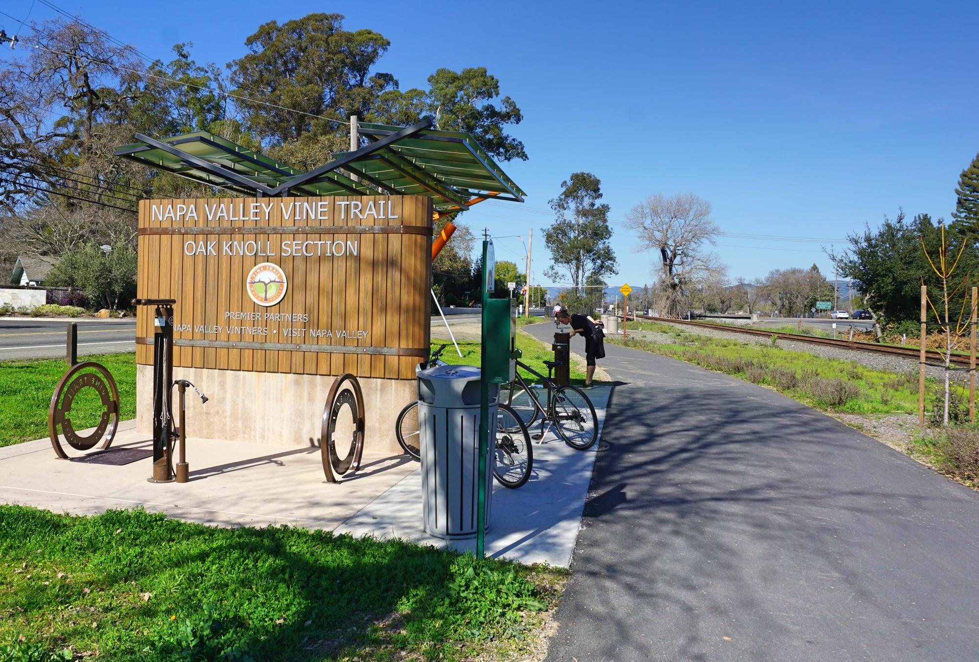 bicicleta no Vale de Napa