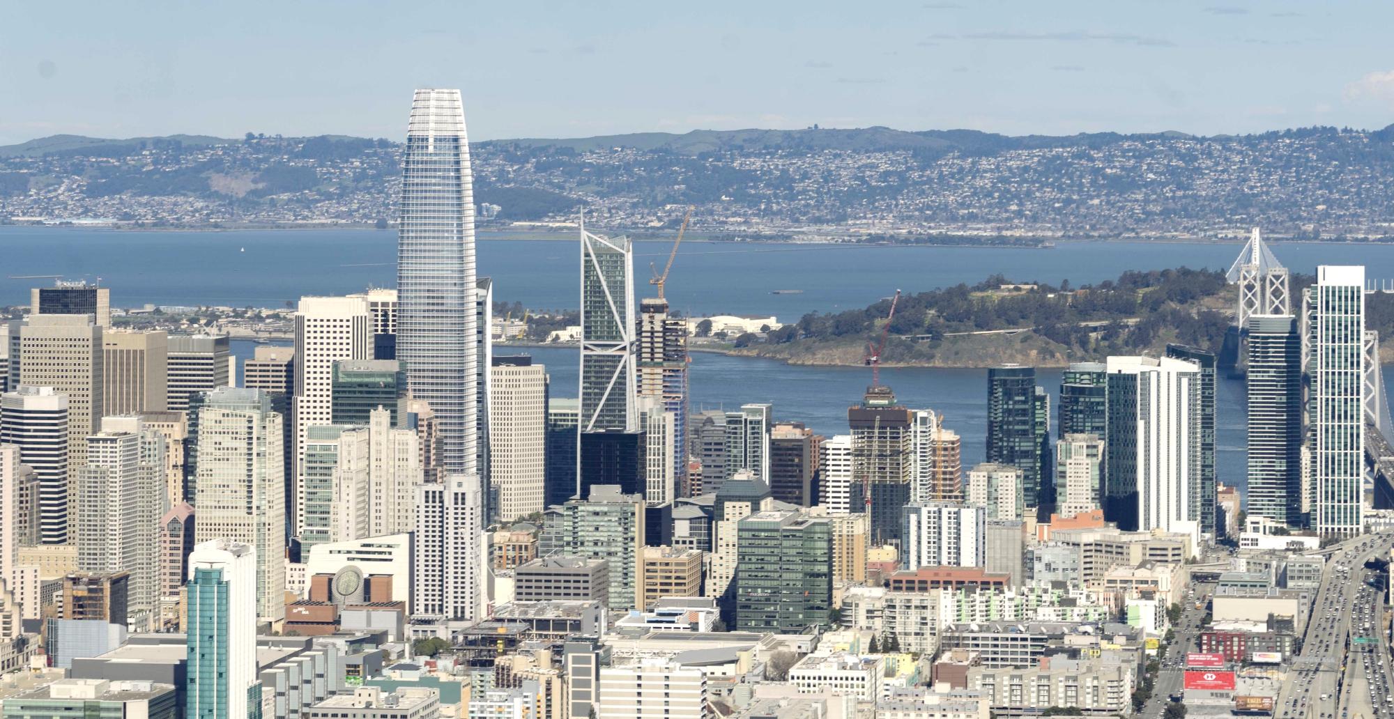 helicóptero em San Francisco