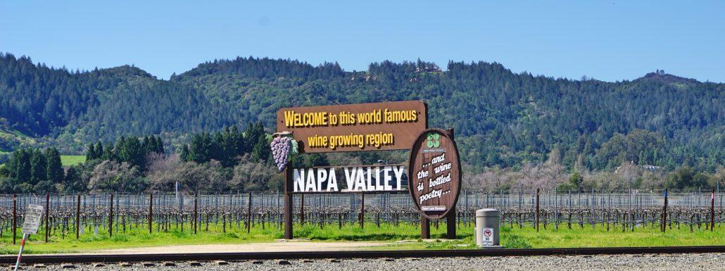 Placa de Napa Valley - Região de Vinhos Californianos