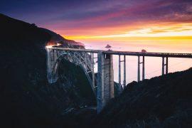 Roteiro na California pela HW-1 em Big Sur