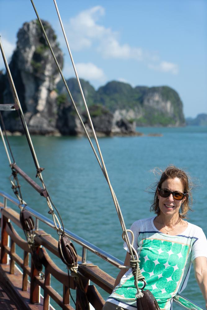 No barco em Halong Bay